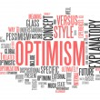 Word Cloud Optimism — 图库照片 #41671343