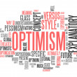 Word Cloud Optimism — Stock fotografie #41671343
