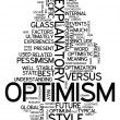 Word Cloud Optimism — Stock fotografie #41671511