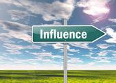 Signpost Influence — Stock Photo