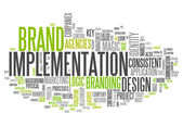 "Word Cloud ""Brand Implementation"" — Stock Photo"