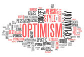 Word Cloud Optimism — Stock Photo
