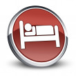 Stock Photo: Icon, Button, Pictogram Hotel, Lodging