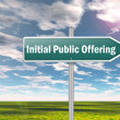 Signpost Initial Public Offering — Stock Photo #41737275