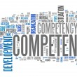 Word Cloud Competence — Foto de stock #41737361