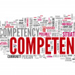 Word Cloud Competence — Foto de stock #41737363
