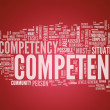 Stock Photo: Word Cloud Competence