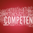 Stockfoto: Word Cloud Competence