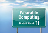 Highway Signpost Wearable Computing — Stock Photo
