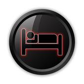Icon, Button, Pictogram Hotel, Lodging — Stock Photo