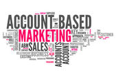 "Word Cloud ""Account-Based Marketing"" — Stock Photo"