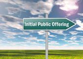 Signpost Initial Public Offering — Stock Photo