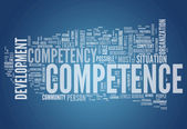 Word Cloud Competence — Stock Photo