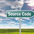 Signpost Source Code — Stock Photo