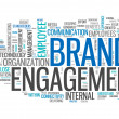 "Stock Photo: Word Cloud ""Brand Engagement"""