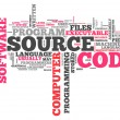 Word Cloud Source Code — Stock Photo #41779935