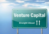 Highway Signpost Venture Capital — Stock Photo