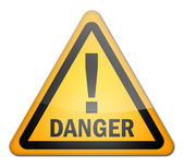 Hazard Sign Danger — Stock Photo