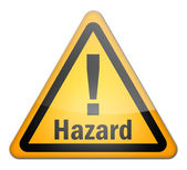 Hazard Sign — Stock Photo