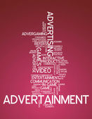 "Word Cloud ""Advertainment"" — Stock Photo"