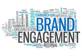 "Word Cloud ""Brand Engagement"" — Stock Photo"