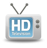 Cartoon-style TV Icon HD TV — Stock Photo