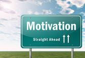 Highway Signpost Motivation — Stock Photo