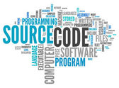 Word Cloud Source Code — Stock Photo