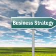 Signpost Business Strategy — Stock Photo