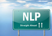 Highway Signpost NLP — Foto de Stock