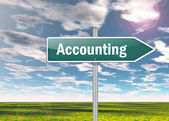 Signpost Accounting — Stock Photo