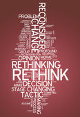 Word Cloud Rethink — Stock Photo