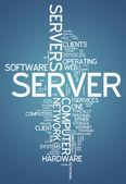 Word Cloud Server — Stock Photo