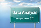 Highway Signpost Data Analysis — Stock Photo