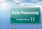 Highway Signpost Data Processing — Stock Photo