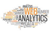 Word Cloud Web Analytics — Stock Photo