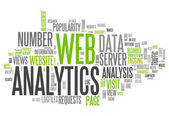 Word Cloud Web Analytics — Stock Photo