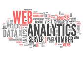Slovo mrak web analytics — Stock fotografie