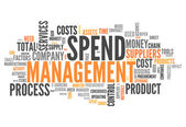 Word Cloud Spend Management — Stock Photo