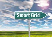 Signpost Smart Grid — Stock Photo