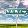 Signpost Social Business — Stock Photo