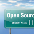 Highway Signpost Open Source — Stock Photo