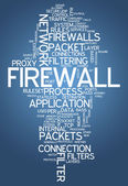 Word Cloud Firewall — Stock Photo