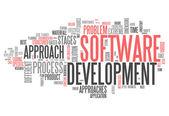 Word Cloud Software Design — Stock Photo