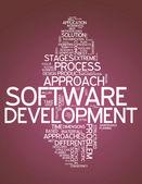 Word Cloud Software Design — Stock Photo
