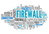 Word Cloud Firewall — Stock Photo