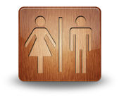 Icon, Button, Pictogram Restrooms — Stock Photo