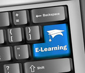 Tastatur Abbildung e-learning — Stockfoto