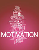 Word Cloud Motivation — 图库照片