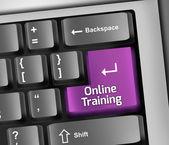 Keyboard Illustration Online Training — Stock Photo